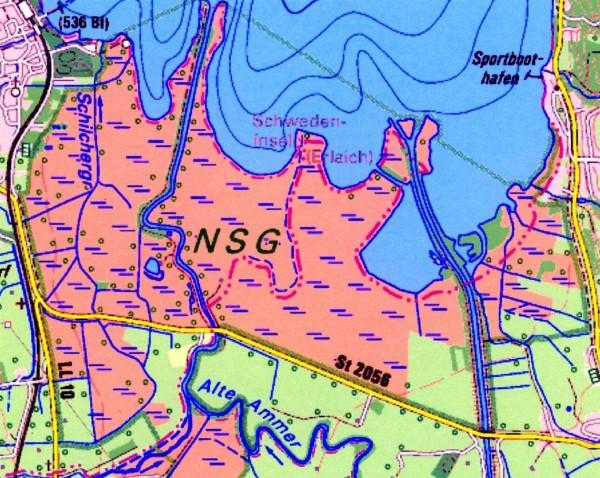 Karte Schwedeninsel