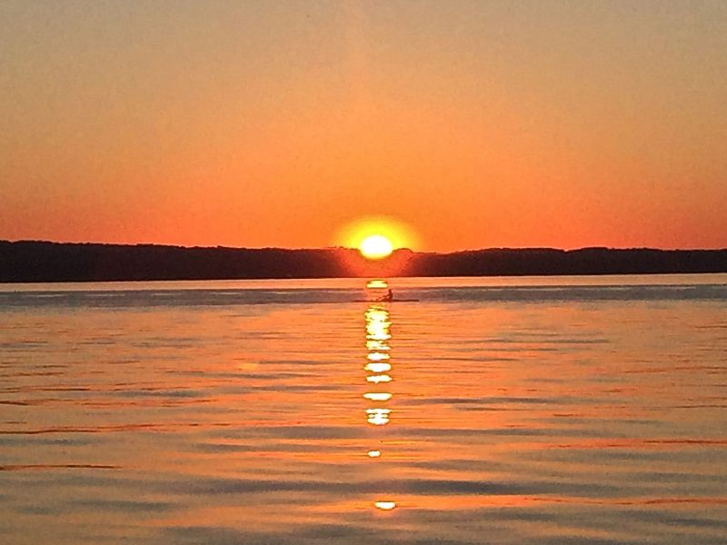 Ruderer Sonnenuntergang